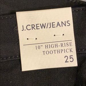 NWT JCrew High Rise Toothpick Skinny Jeans